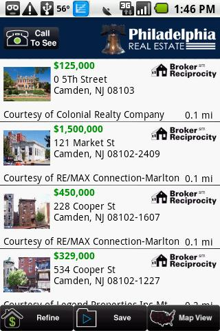 Philadelphia Real Estate - screenshot