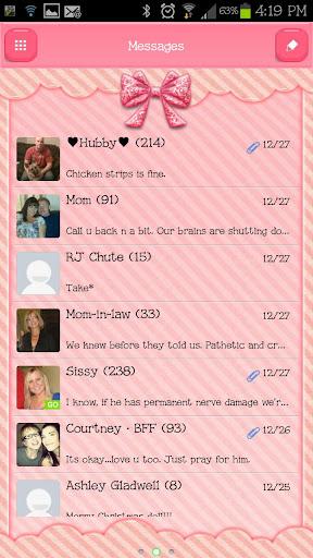 GO SMS - Sugar Bows