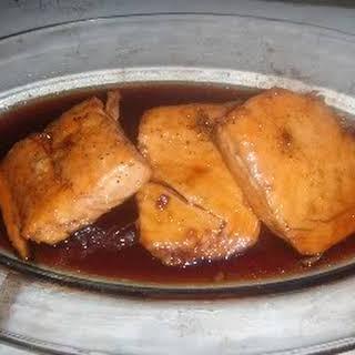 Sweet n' Spicy Honey Baked Salmon.