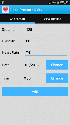 Blood Pressure Dairy