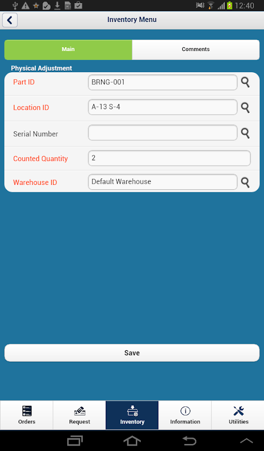 iMaint Mobile 3.5 for Android- screenshot