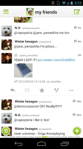 Screenshot for Janetter Pro for Twitter in Hong Kong Play Store