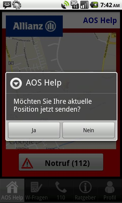 AOS Help - screenshot