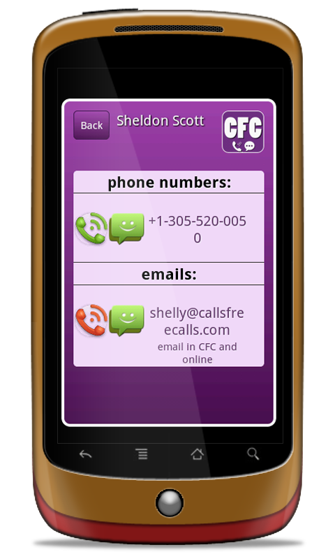 CFC Free Phone Calls and SMS - screenshot