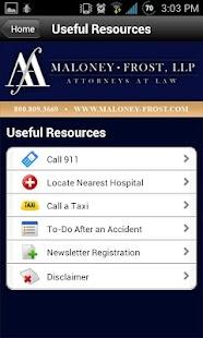 Maloney-Frost, LLP - screenshot thumbnail