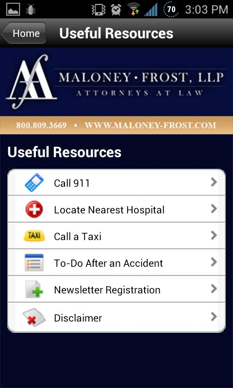 Maloney-Frost, LLP - screenshot