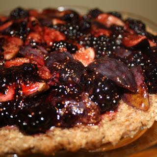 Raw Blackberry Fig Tart.