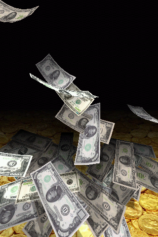 Falling Money 3D Live Wallpaper Pro Android App Screenshot