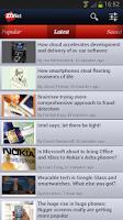 Screenshot of ZDNet Mobile