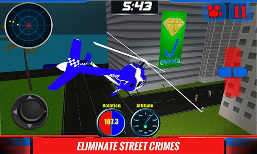 911警用直升机3D辛