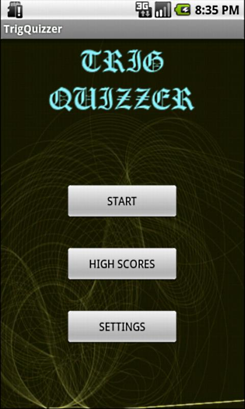 Trig Quizzer - screenshot