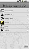 Screenshot of University of Iowa