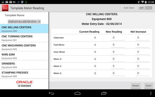 Meter Readings - JDE E1