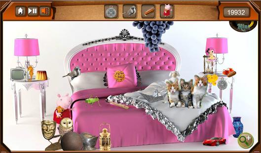 Hidden Object - Bedroom Cats- screenshot thumbnail
