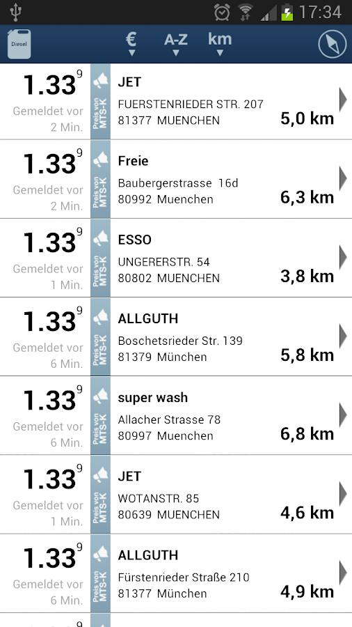clever-tanken.de- screenshot