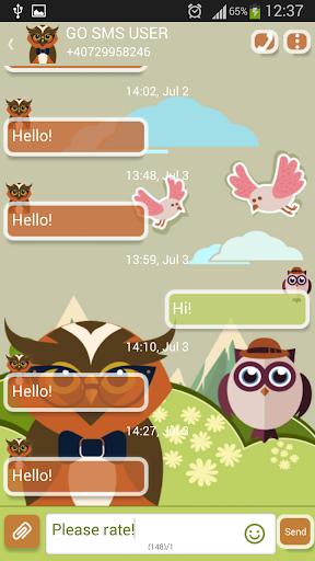 GO短信加强版的猫头鹰