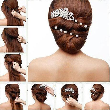 how to make rose hairstyle step by step
