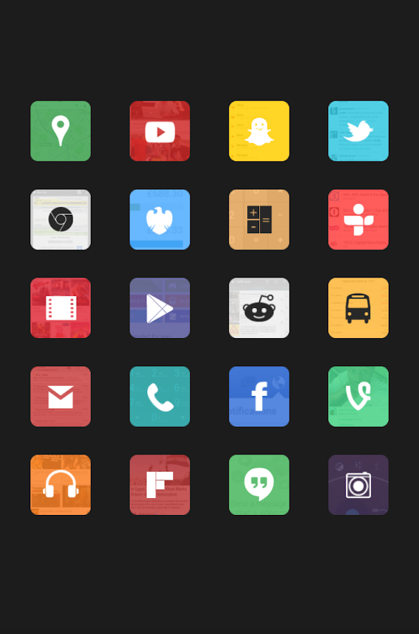Peek Icon Pack- screenshot