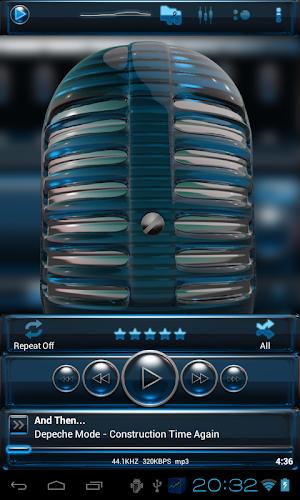 Download glass poweramp skin light blue APK latest version