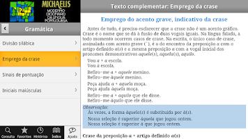 Screenshot of Dicionário Michaelis Português