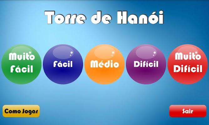 Torre de Hanói - screenshot