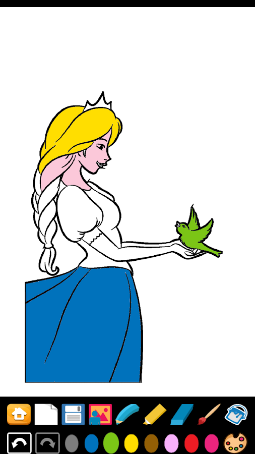 Princess Coloring Game- screenshot