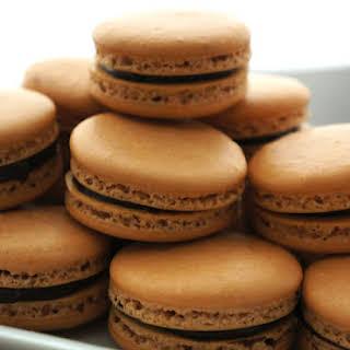 Chocolate Hazelnut Macarons.