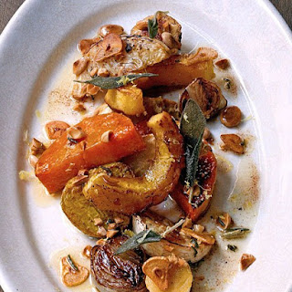 Roasted Root Vegetable Salad with Marcona Almonds.