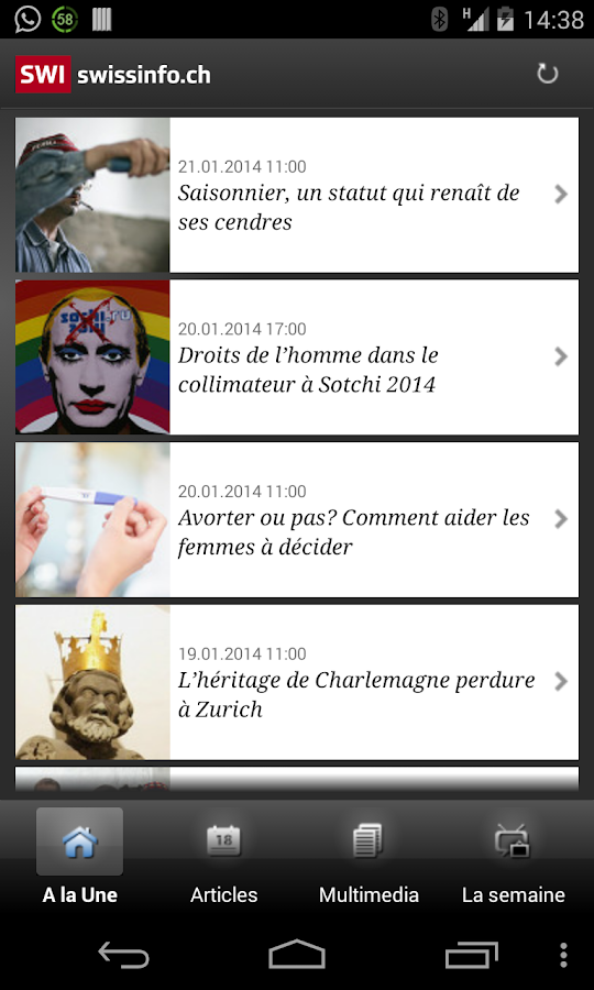 swissinfo.ch - screenshot