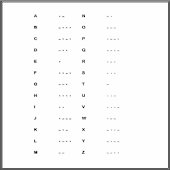 Morse Code Quiz & Cheat Sheet