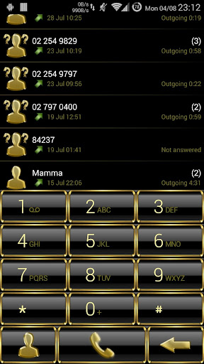 Dialer Frame Gold NEW theme