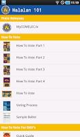 Screenshot of COMELEC Halalan App