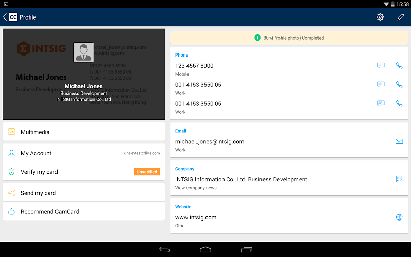 CamCard - Business Card Reader Screenshot 9