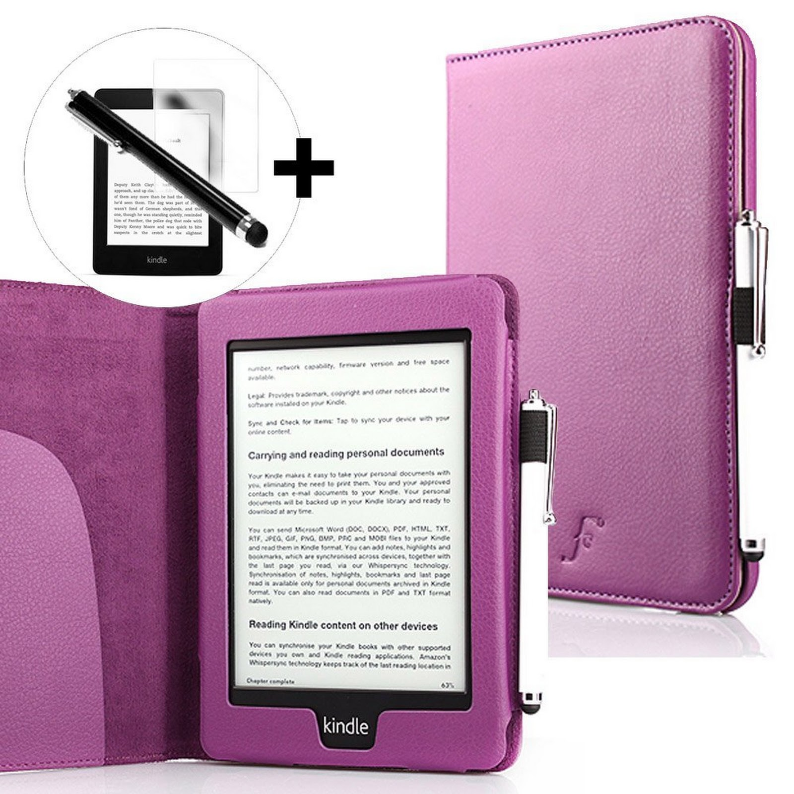 Funda de cuero sintético para el nuevo Kindle Paperwhite 3G WiFi