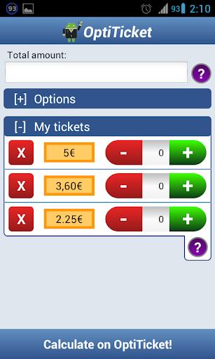 OptiTicket - Coupon Calculator