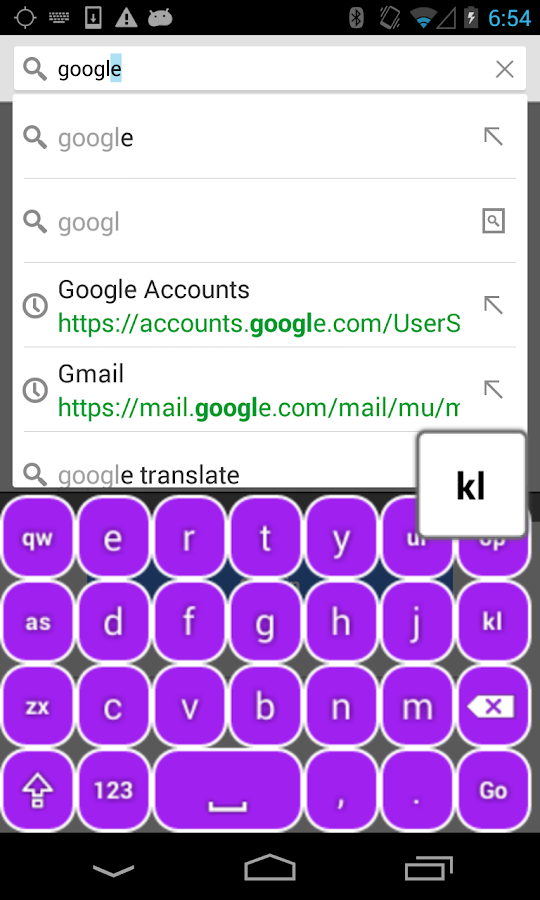 Purple Keyboard - screenshot