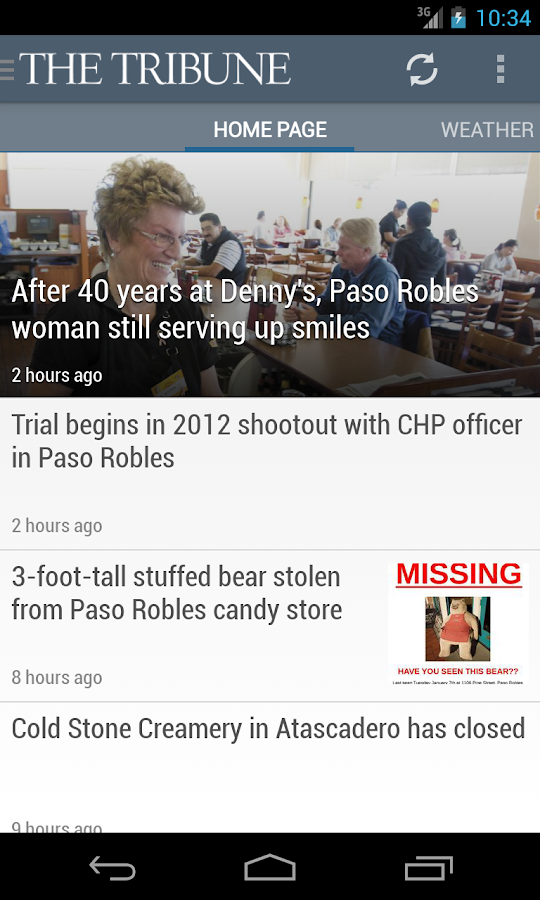 San Luis Obispo Tribune news - screenshot
