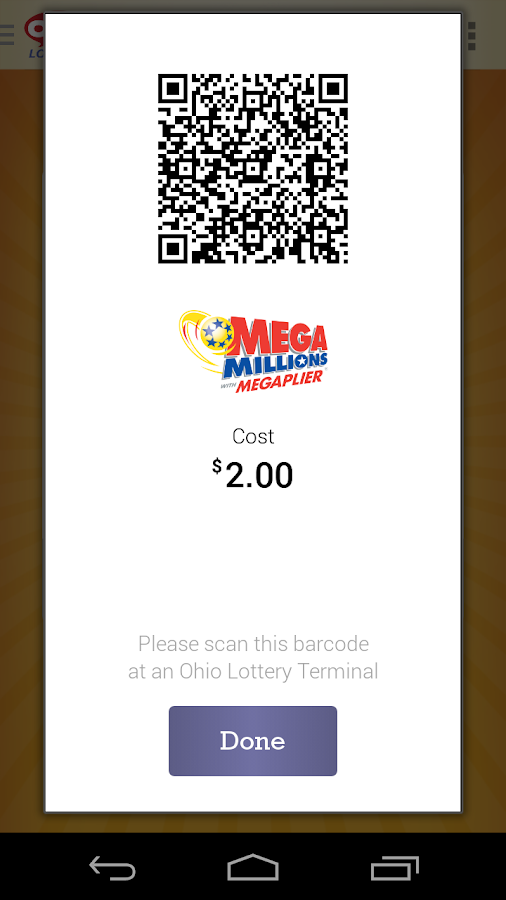 Ohio Lottery ePlayslip- screenshot