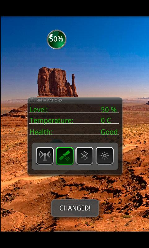 Battery Widget - screenshot