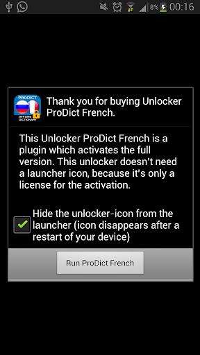 Unlocker ProDict French