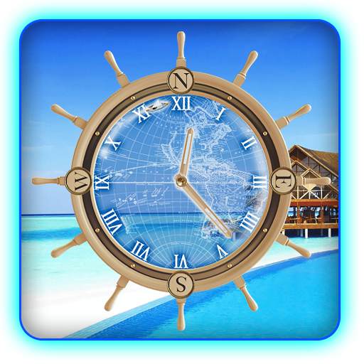 Maldives Island Travel Compass