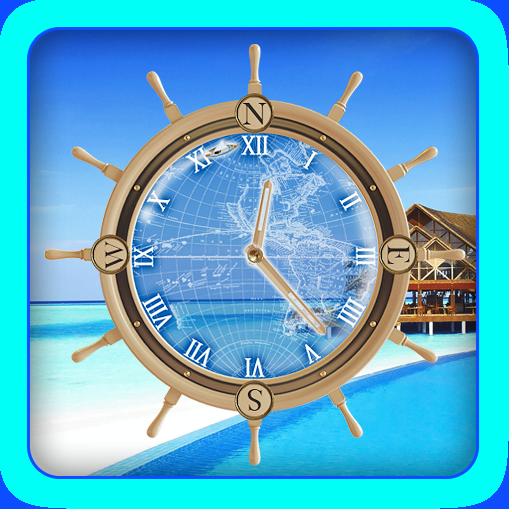 Maldives Island Travel Compass