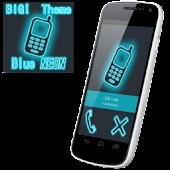 BIG! caller ID Theme NeonBlue