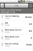 Screenshot of INR Tracker
