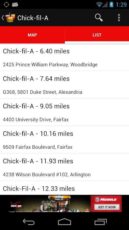 Find Fast Food- screenshot