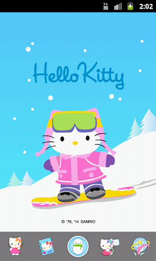 Hello Kitty Down Hill Skiing