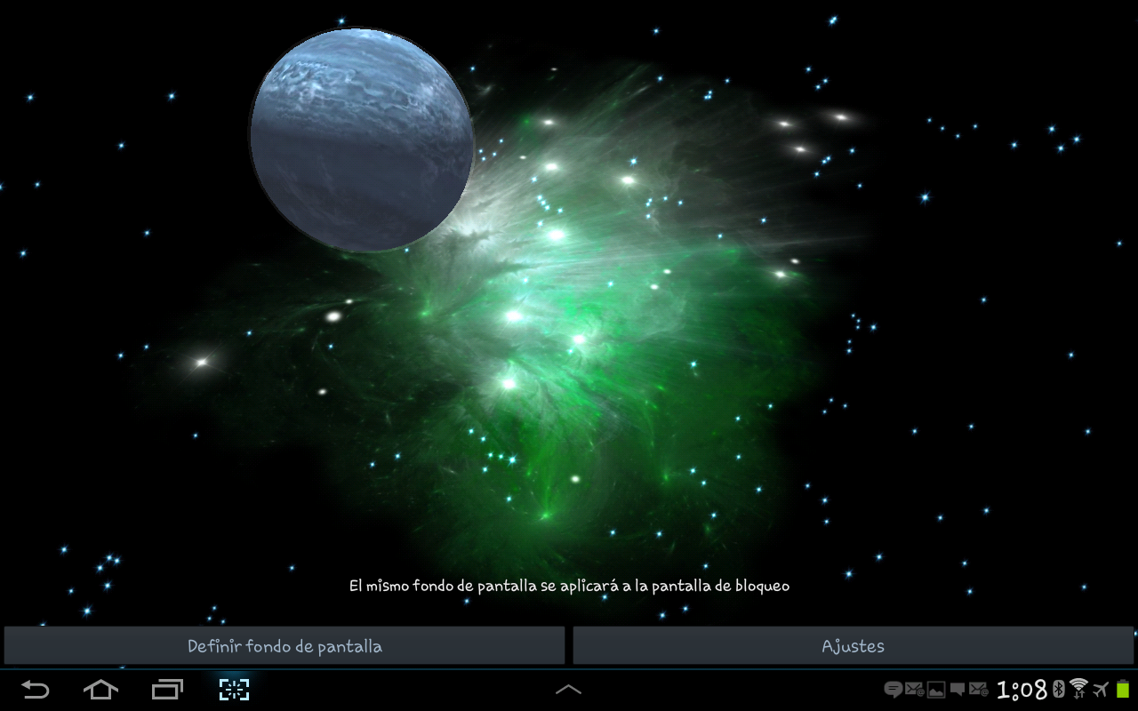 3d space live wallpaper