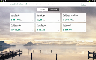 Screenshot of Skandiabanken Mobilbank