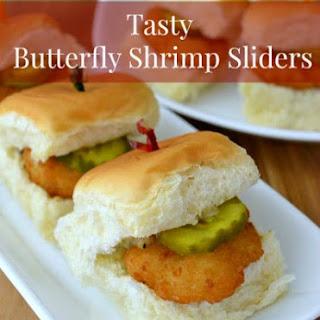 Tasty Butterfly Shrimp Sliders.