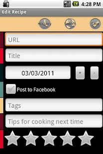 Mibori Recipe Organizer FREE - screenshot thumbnail